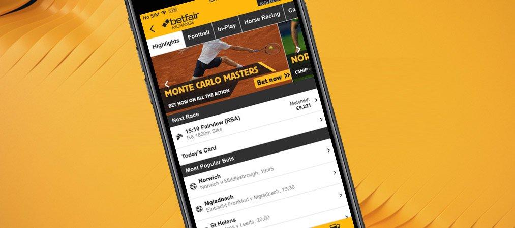 Betfair mobile app for iPhones